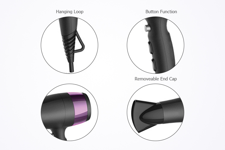 safety touch-sensitive control modern beautiful star powerful constant temperature hair ionic blow dryer professional salon