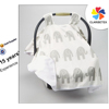 Wholesale Strapped Elephant Canopy Cotton Baby Car Seat Cover