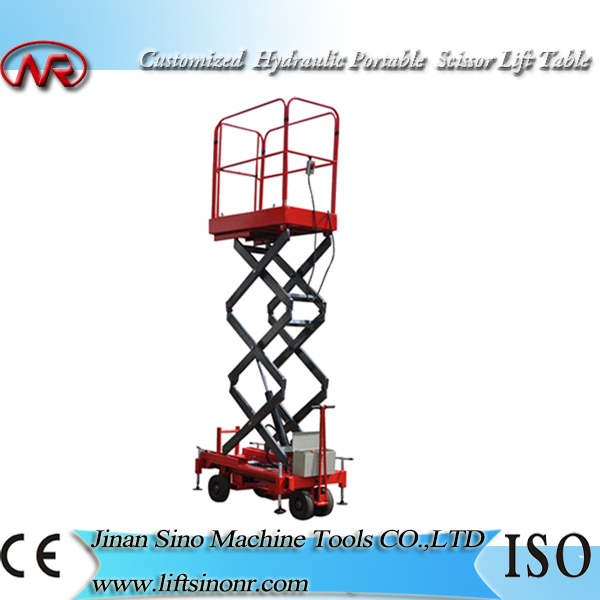 hydraulic ladder lift electric screw lifts aerial hand scissor lift