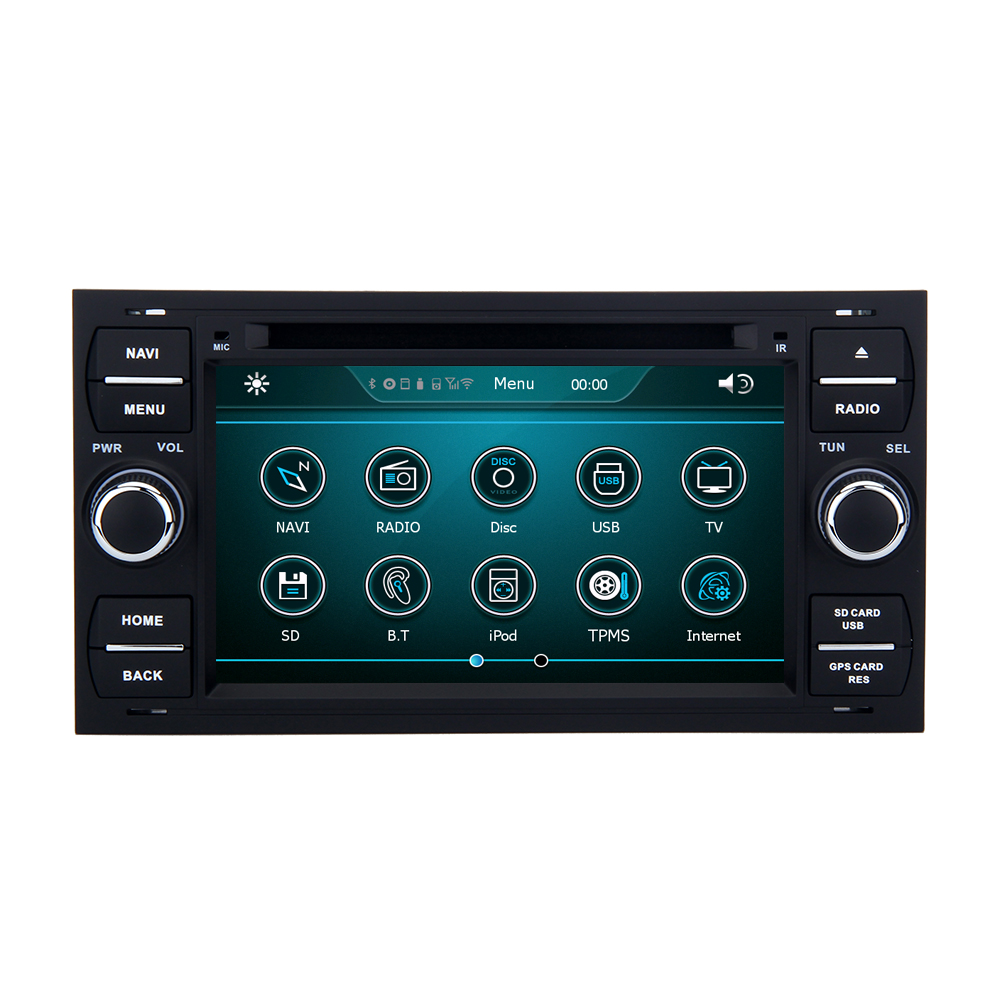 Wholesale car Microphone control panel 1.6GHZ gps multimedia navigator dvd price for Ford Connect 2007 2009