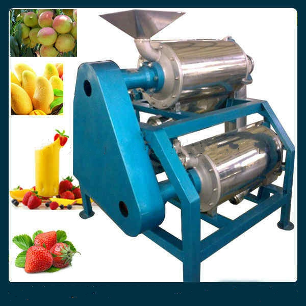 Pulping machine for fruit and vegetables in stainless steel