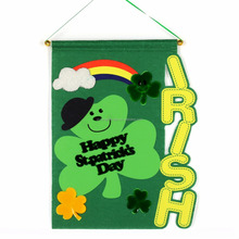 Flag ornament for St. Patrick's Day Kiss me decoration