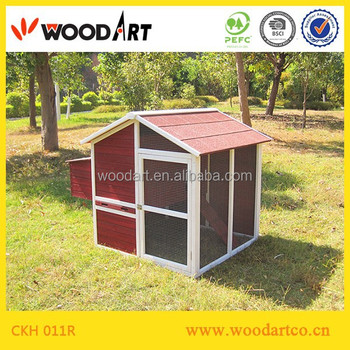 House type for wooden chicken breeding coop cage