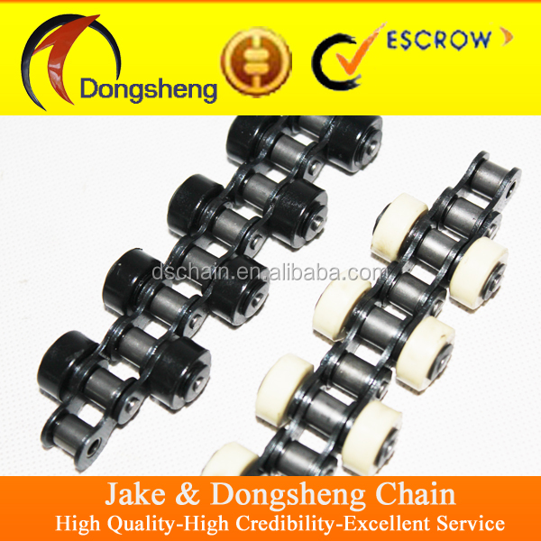 chain manufacturer high quality carbon steel double plus chains with roller attachments