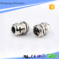 China Cable Gland Manufacture M Type Waterproof Metal Cable Gland Size