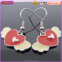 Cute Angel Wings Heart Tiny Fashion drop Earring for Girls Wholesale (21007)