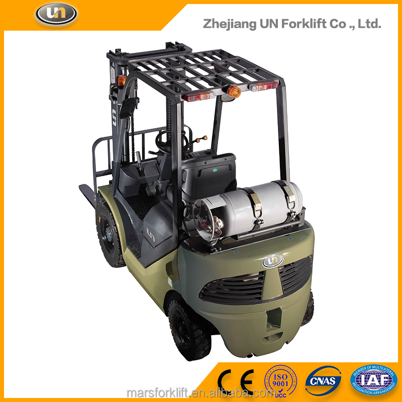 Full Free Mast Forklift LPG Gas Engine With Tank 1.5ton