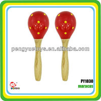 Maracas Wood Baby Rattle Musical Toy