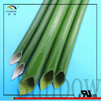 SUNBOW CUL Qualified Insulating Silicone Glassfiber Sleeving 2.5MM GREEN