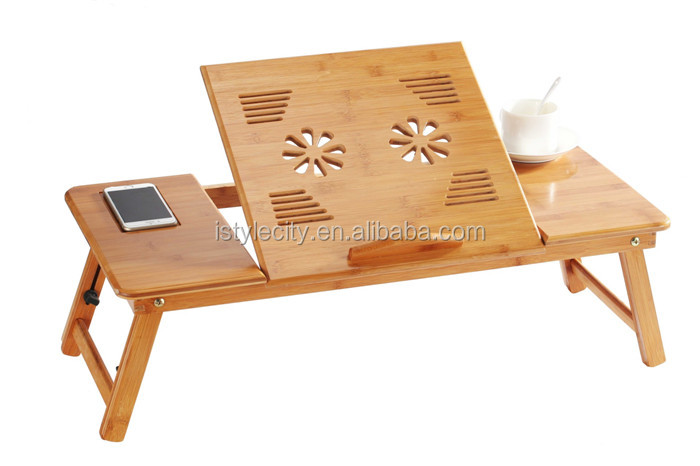 einstellbar laptop tisch aus holz laptop desk. Black Bedroom Furniture Sets. Home Design Ideas
