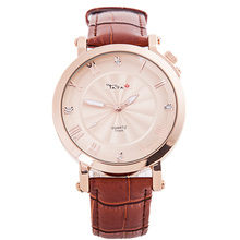 TADA fashion genuine leather 30m deep waterproof luxury own brand watch
