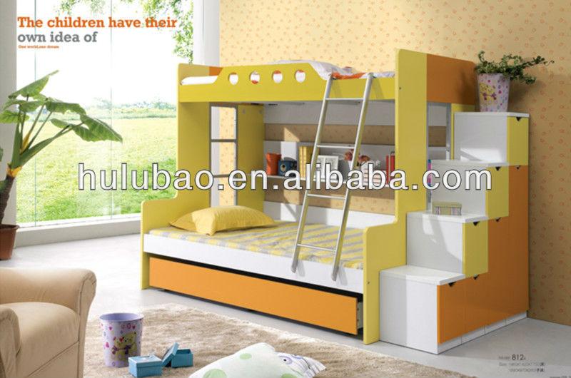 Fabrica precio barato mdf colorido gabinete mdf cama litera para