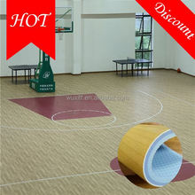 2016 hot sale top quality safe wood grain basketball flooring roll