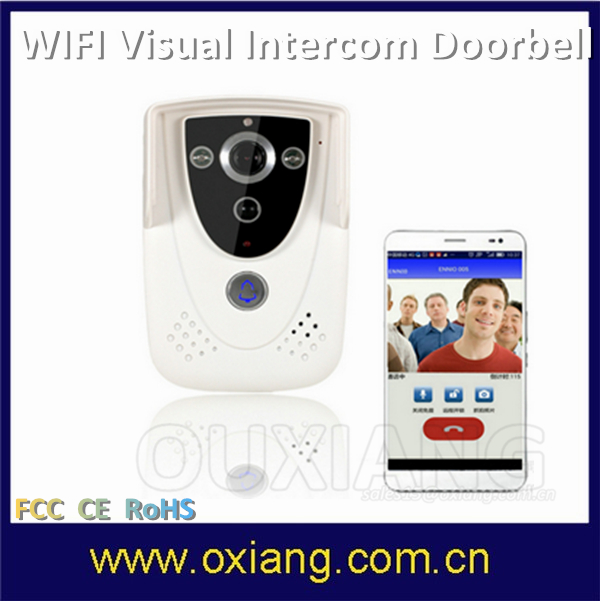 Intercom Wired Video Door Bell Supports Wifi Remote Viewing And Answering Loud Doorbell