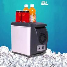 Portable 12V 6L Auto Car Refrigerator Cooler Freezer Warmer Heating Quality ABS Truck Electric Mini Fridge for Travel RV Boat