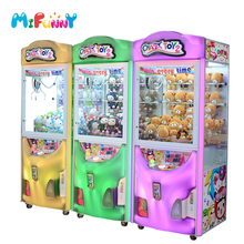Good quality factory arcade game coins operated claw crane machine for sale