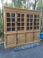 Best price solid wooden store cabinet bedroom storage bookcase book cabinet