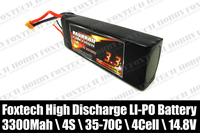 Hot sales Foxtech 4s 3300mah lipo battery,high discharge for RC multicopter,helicopter,plane