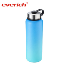 Everich 40oz Stocked pop top green canteen double wall stainless steel water bottle for outdoors