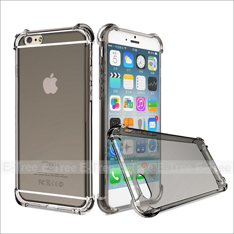 Four Angle High Shockproof Crystal Tpu Soft Case Phone Case Cover For Apple iPhone 6