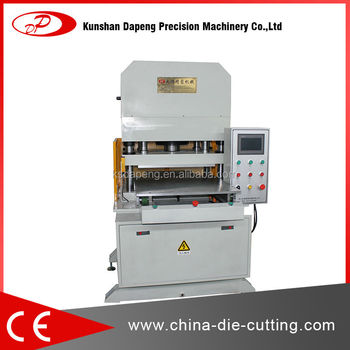 Sheet material hydraulic die cutting machine for foam material
