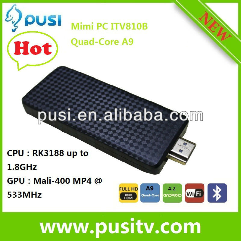 Latest Mini PC Android 4.1 Google TV Player /2 GB RAM/8GB Nand Flash/1.6GHz CPU/Android TV Stick/Wifi/Mini TV Box