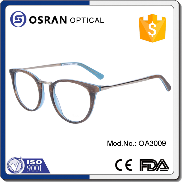 China wholesale acetate optical frame round eyeglasses without nose pads