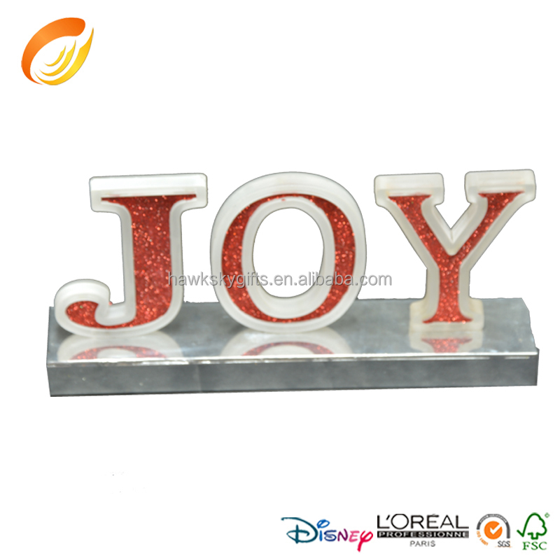 New design hot sale latest acrylic lighted JOY letters
