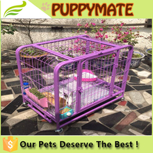 Factory Direct Supply Hot Selling Economic Folded Heavy Duty Wire Pink Dog Crate
