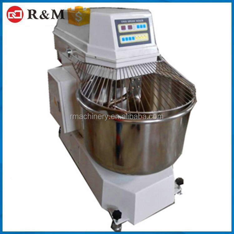 CE two speed dough mixer 304 stainless steel flour mixer 50kg capacity spiral mixer