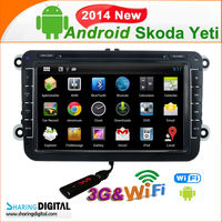 SKODA Yeti 2014 pure android 4.2 Car Radio GPS Navigation
