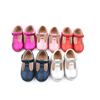 New Feeling Brands Online Shoe Store T Bar Dress Baby Girls ShoesLuxury Glitter Shiny Leather Craft Shoes For Kid