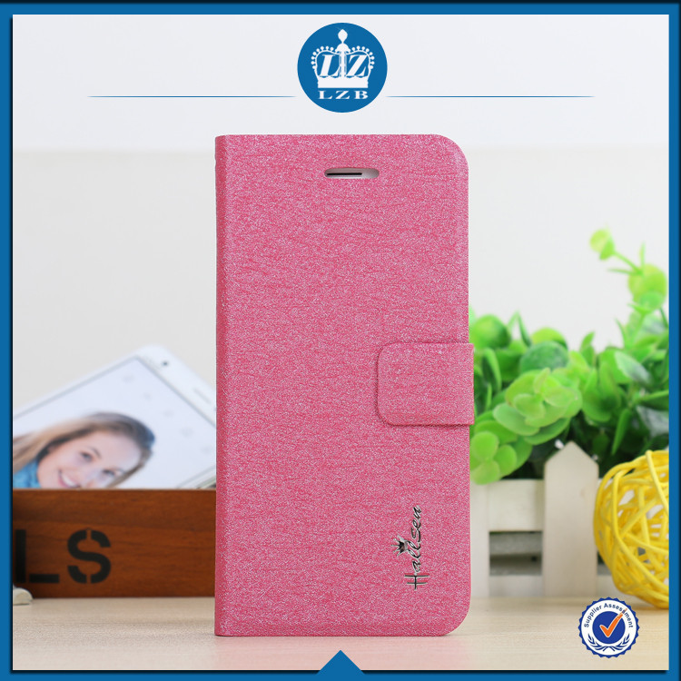 LZB Silk grain series funny PU waterproof leather case for Samsung Galaxy S4