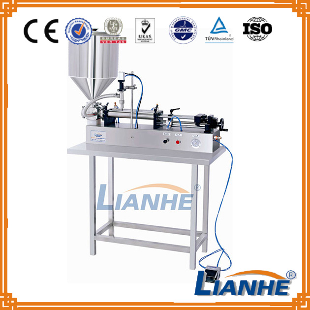 single/double nozzles small bottle liquid filling machine