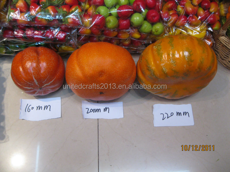 hot sale small plastic pumpkin/wholesale foam white pumpkin home decoration /artificial fruit pumpkin cheap Chinese gift items