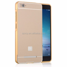 alibaba wholesale 24k aluminum metal bumper mirror pc phone case back cover for xiaomi mi 4 i