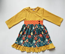 Boutique girls clothing baby girls dresses long sleeve fall and winter clothes baby dress