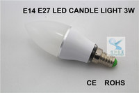 ce rohs 3w samsung chip led candle lamp e14 dimmable