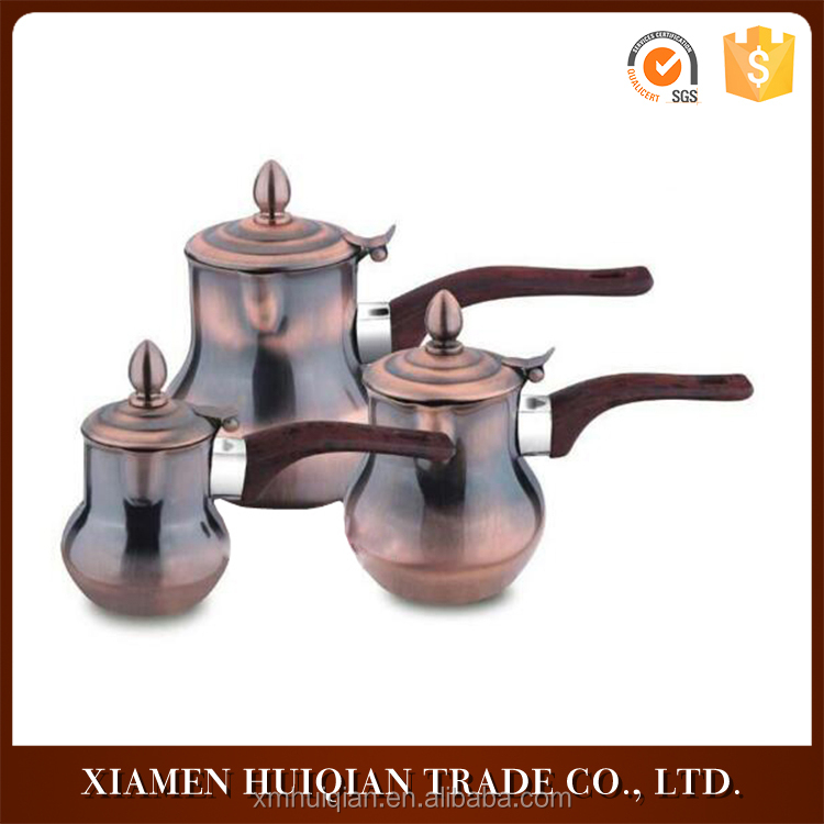 Restaurant portable bronze three in one set heating stainless steel coffee mug