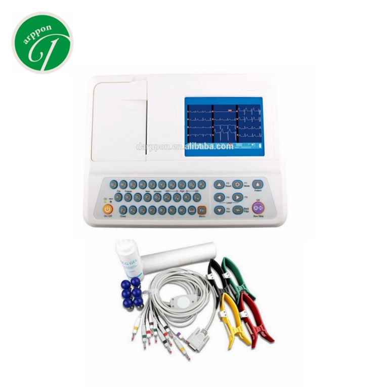 Electrocardiography Type 12 Leads 3 Channel ECG Machine