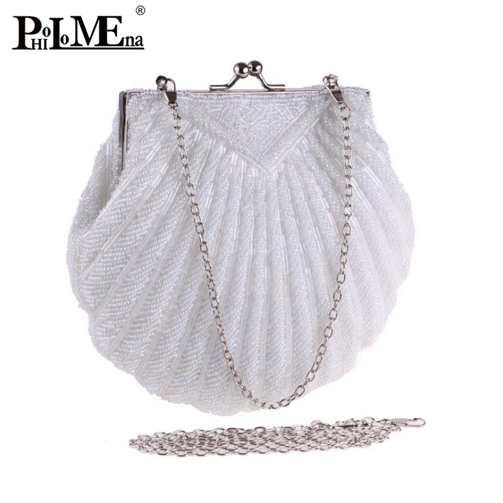 2018 high quality evening bag shell model pearl style party bag hot sale alibaba China clutch bag
