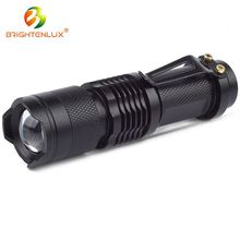 Super brightest high power zoom mini led tactical flashlight