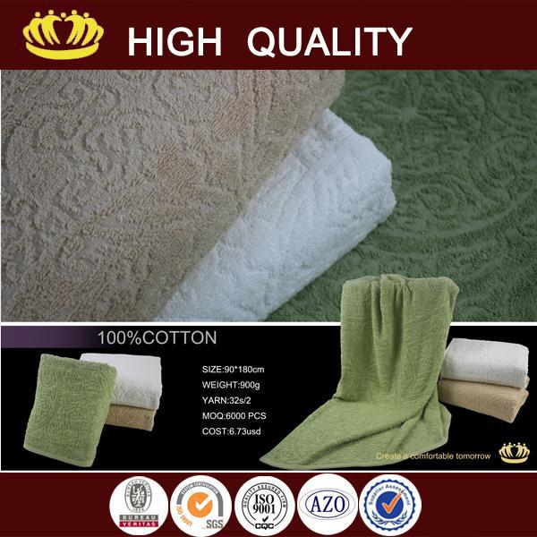 2015 new design wholesale Elegant style pure color bold and beautiful bath towels
