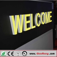 2017 hot selling front door signs vacuum forming acrylic channel letter