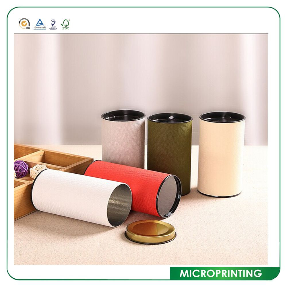 Color Printed Luxury Custom Paper Fabric Cardboard Tubes