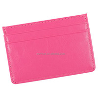 New design Pink Pvc business credit card holder for gift