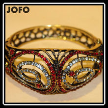 Hot Designs 2015 Antique Gold Plated Multi-color Bracelets Infinie Cuff Bangle