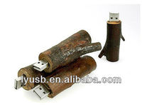 real wood usb flash drive 1gb, engraved wood usb stick 2gb , tree root shape wooden pen drive