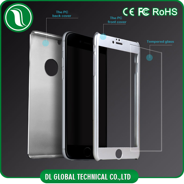 na supplier rubber finished plastic surface and tempered glass 360 degree plastic case for iphone 5