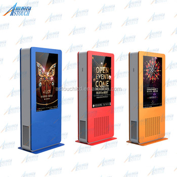32'' 42'' outdoor network digital signage network players with touch screen